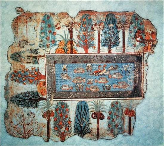 egyptian-blue-Pond_in_a_Garden_from_the_Tomb_of_Nebamun