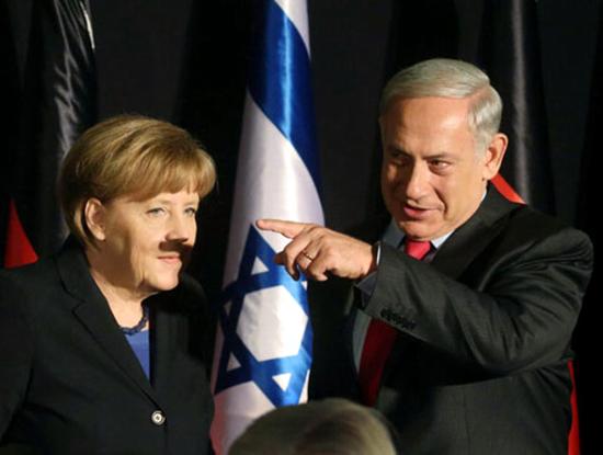 Merkel_mustache-Jerusalem